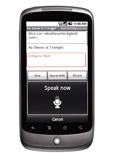 Nexus One Voice Command