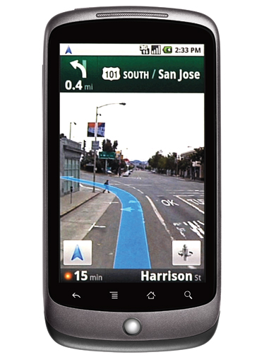 Nexus One with Google Maps